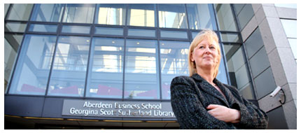 阿伯丁商学院学长Rita Marcella教授,  Professor Rita Marcella, Dean of the Aberdeen Business School
